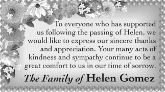The Family of Helen Gomez