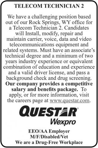 Telecom Technician 2