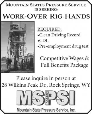Work-Over Rig Hands