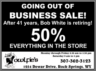 50% Everything in the store