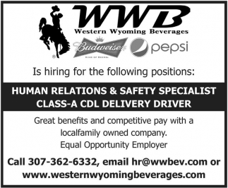 Hiring for the following positions