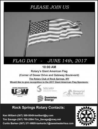 Please Join us Flag Day