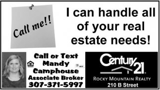 I Can Handle all of your real estate needs!