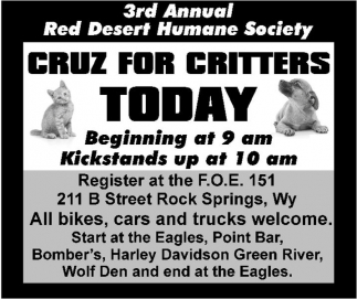 Cruz for Critters Today