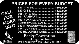 Prices for every budget
