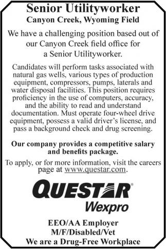 Senior Utility Worker