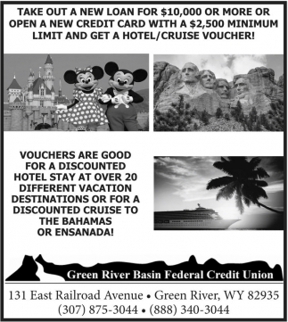 Take out a new loan for $10,000 or more or open a new credit card with a $2,500 minimum limit and get a hotel/cruise voucher