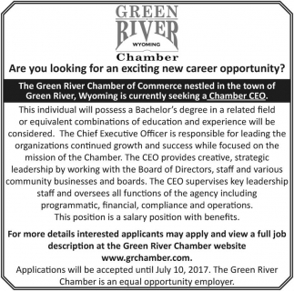 Are you looking for an exciting new career opportunity?