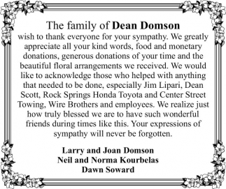 The Family of Dean Domson