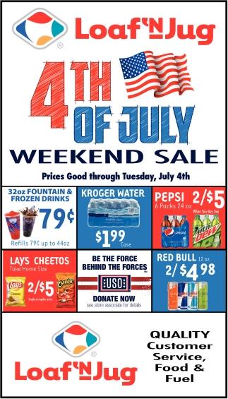 4th of July Weekend Sale