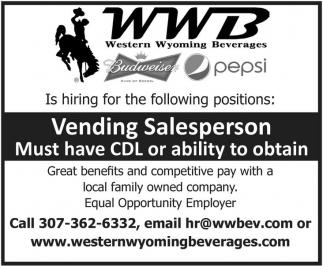 Vending Salesperson