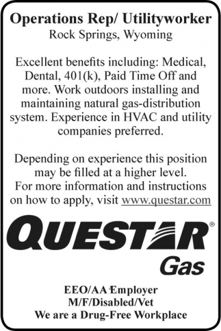 Operations Rep/Utilityworker