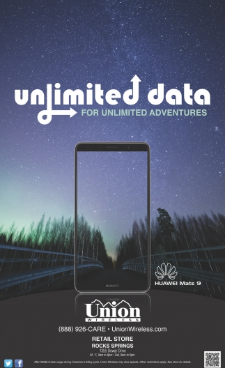 Unlimited Data for Unlimited Adventures