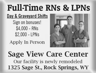 Full-Time RNs & LPNs