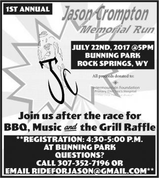 1st Annual Jason Crompton Memorial Run