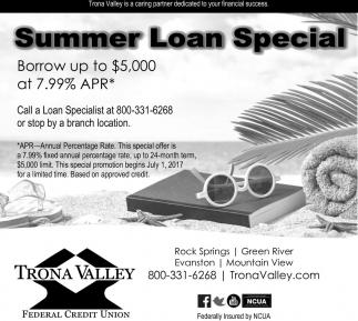 Summer Loan Special