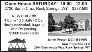 Open House Saturday!