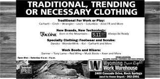 Traditional, Trending Or Necessary Clothing