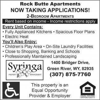 Rock Butte Apartments!