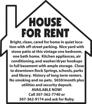 House for Rent!