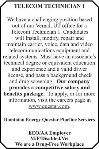 Telecom Technician I