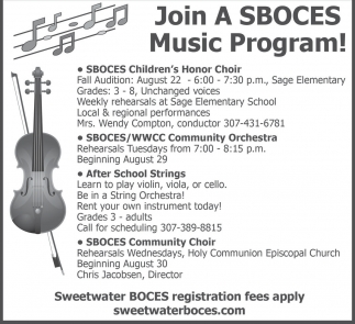 Join A SBOCES Music Program