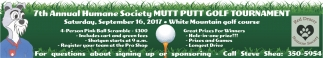 7th Annual Humane Society MUTT PUTT GOLF TOURNAMENT