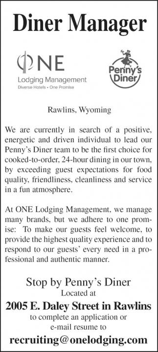 Diner Manager