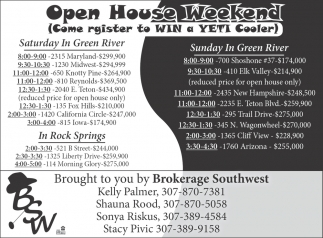 Open House Weekend!