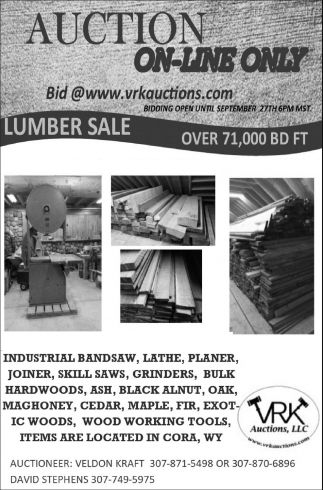 Auction On-Line Only