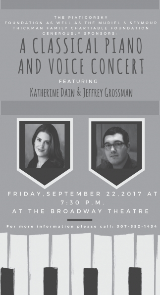 A Classical Piano and Voice Concert