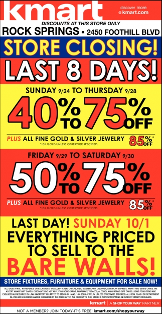 Store Closing, Final Days!