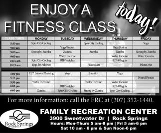 Enjoy a Fitness Class