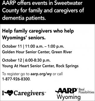 Help Family Caregivers Who Help Wyomings' Seniors