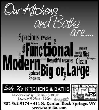 Our Kitchens and Baths are...