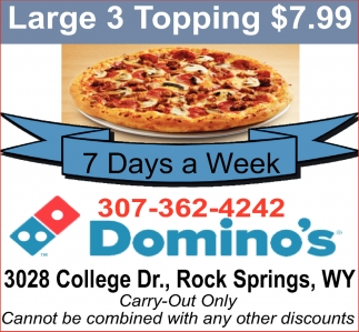 Large 3 Topping $7.99