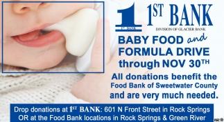 Baby Food And Formula Drive