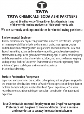 Tata Chemicals (Soda Ash) Partners