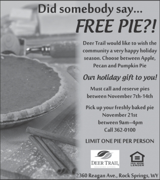 Did somebody say... Free PIE?