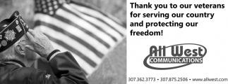 Thanks You To Our Veterans