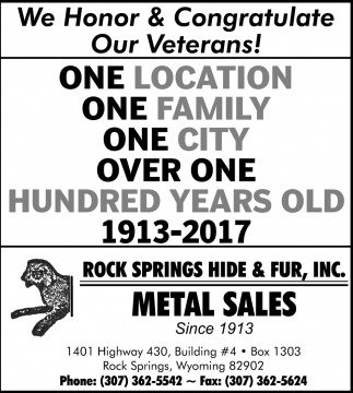 Metal Sales Since 1913