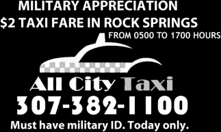 all city taxi all city taxi rock springs wy. Black Bedroom Furniture Sets. Home Design Ideas