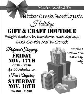 You're invited to Bitter Creek Boutique's