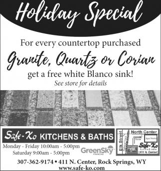 Granite, Quartz Or Corian