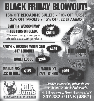 Black Friday Blowout!