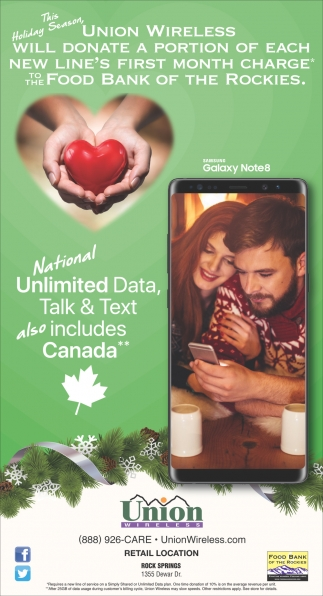 Unlimited Data, Talk & Text