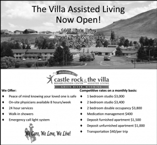 The Villa Assisted Living Now Open!