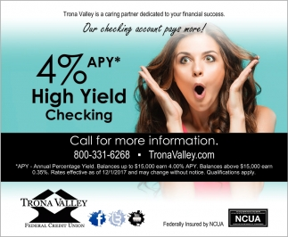 4% APY* High Yield Checking
