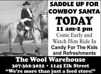 Saddle Up For Cowboy Santa