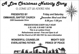 A Live Christmas Navity Story